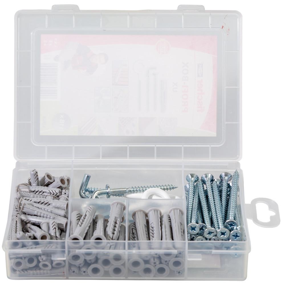 Hook Plug Set fischer 518526 PROFIbox UX Grey Screw